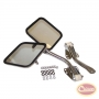 Complete Mirror and Arm Kit, Stainless